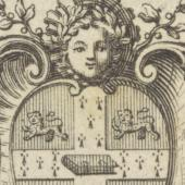 Pine's bookplate (miniature)