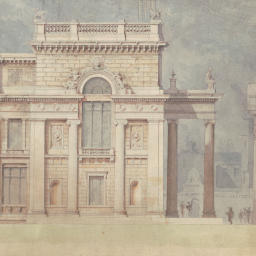 Architectural drawings by C.R. Cockerell