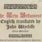 A belated Wycliffite testament