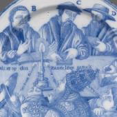 Commemorative tableware: a Dutch Delftware charger