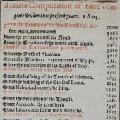 Calendar and chronology : almanac timetables