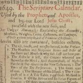 Radical calendars: the almanac in biblical terms