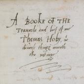 'A Book of Travail'