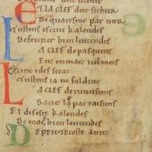 Fragment of de Thaon's <em>Comput</em> (2)