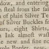A robbery – September 11, 1783