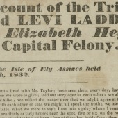 A full and particular account of the trial of Robert Folkes and Levi Ladds, for violently assaulting Elizabeth Heythorpe, and committing a capital felony: tried before Chief Justice Storks, at the Isle of Ely Assizes held at Wisbech, March 30th, 1832