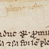 A marginal scribble