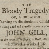 The bloody tragedy, or, A dreadful warning to disobedient children