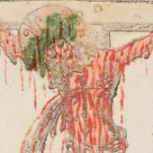 Crucifixion with manuscript indulgence
