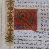 Quintus Horatius Flaccus (65–8 BC) <em>Opera</em> (manuscript)